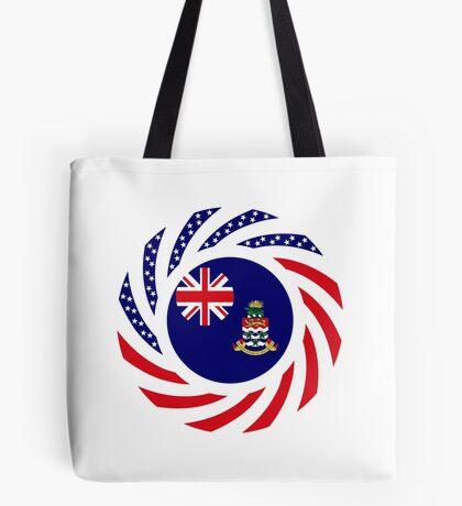 Caymanian American Multinational Patriot Flag Series Tote Bag