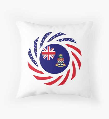 Caymanian American Multinational Patriot Flag Series Throw Pillow