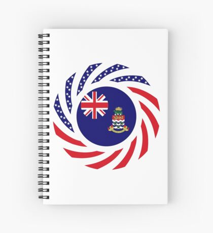 Caymanian American Multinational Patriot Flag Series Spiral Notebook