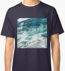 Blue Ocean Waves  Classic T-Shirt