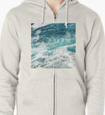 Blaue Meereswellen Kapuzenjacke