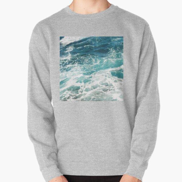 Blue Ocean Waves  Pullover Sweatshirt