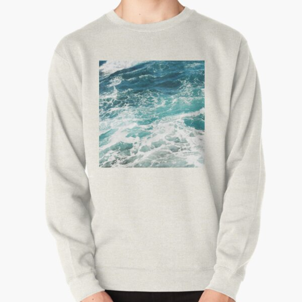 Blue Ocean Waves  Pullover Sweatshirt