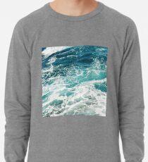 Blue Ocean Waves  Lightweight Sweatshirt