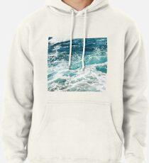 Blue Ocean Waves  Pullover Hoodie