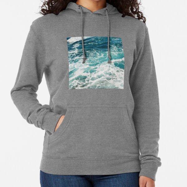 Blue Ocean Waves  Lightweight Hoodie