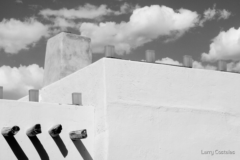 New Mexico Building Abstract by Larry Costales