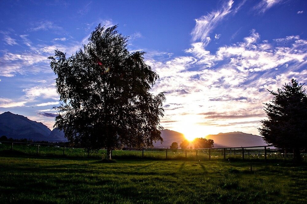 Corvallis Montana Sunset  2015 by beckam81