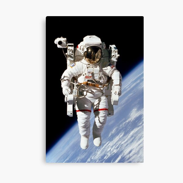 McCandless Untethered Spacewalk Enhanced Canvas Print