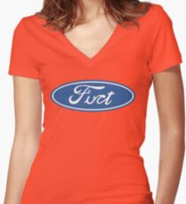 Fuct Women's Fitted V-Neck T-Shirt