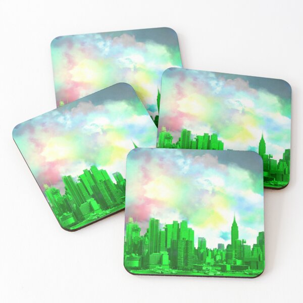 Greetings from the Emerald City Coasters (Set of 4)