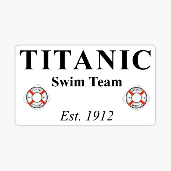 Titanic Swim Team 1912 Sticker