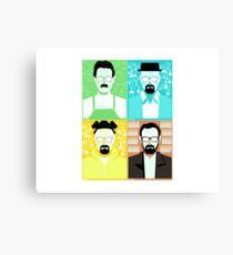 Walter White / Heisenberg Faces Breaking Bad Canvas Print
