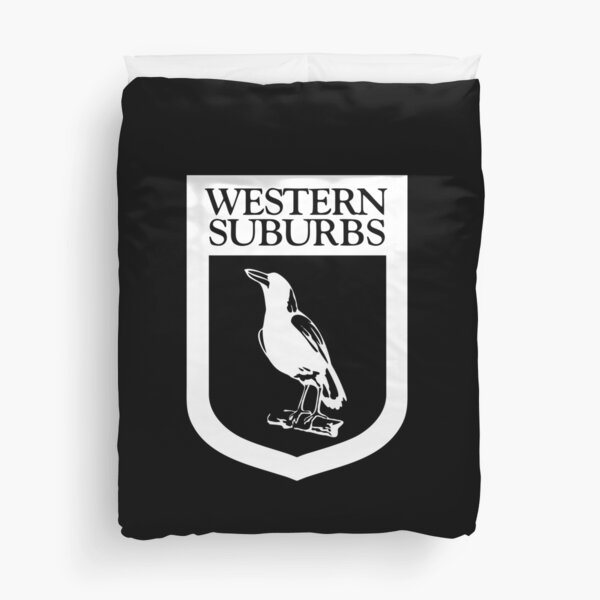 Western Suburbs Magpies Duvet Cover