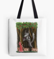 Litte Red and The Wolf Tote Bag