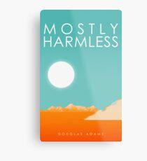Mostly Harmless Metal Print