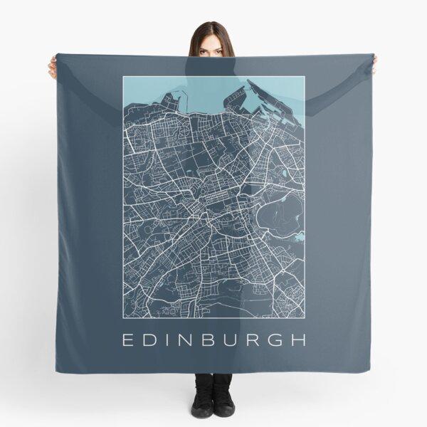 Edinburgh City Navy Map Scarf