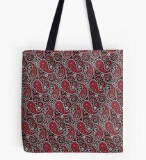 Pushie Paisley Pattern Chrome Tote Bag