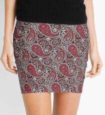 Pushie Paisley Pattern Chrome Mini Skirt