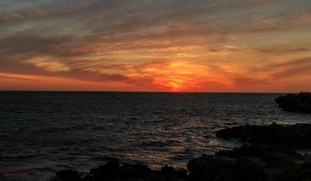 Point Peron WA Sunset by IsithombePhoto