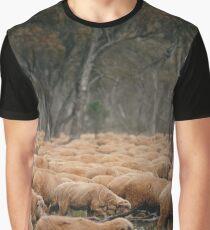 Droving Sheep at Albert  © Vicki Ferrari Graphic T-Shirt