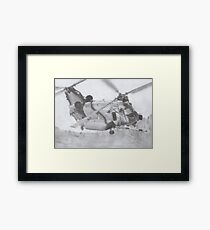 CH-47 Chinook pencil drawing Framed Print