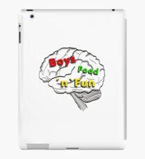 Boys food fun iPad Case/Skin