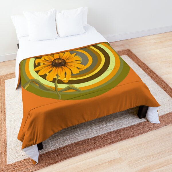 Black Eyed Susan Wild Flower  Comforter