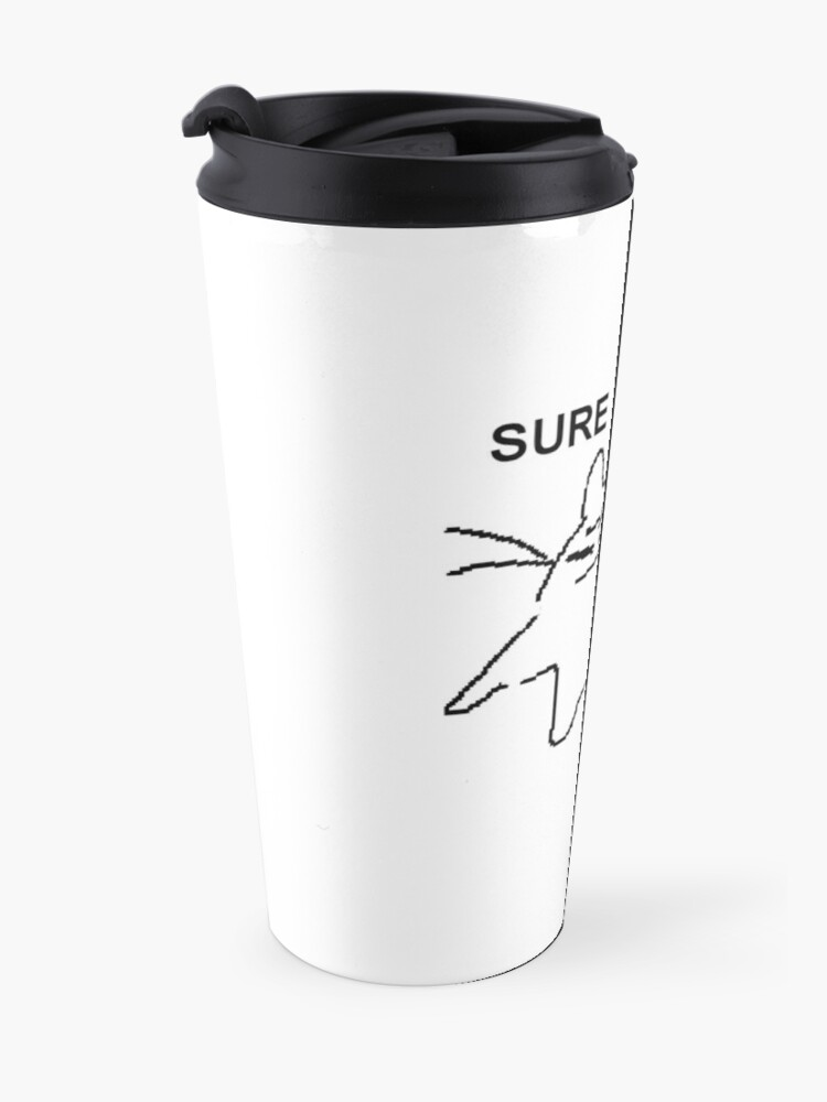 Alternate view of sure. awake Travel Mug
