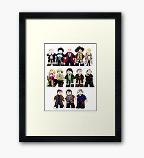 Doctor Who - Toy Doctors Framed Print