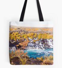 Hraunfossar waterfall, Iceland Tote Bag