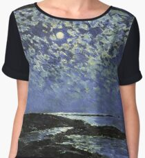 Vintage famous art - Childe Hassam - Moonlight, Isle Of Shoals Chiffon Top