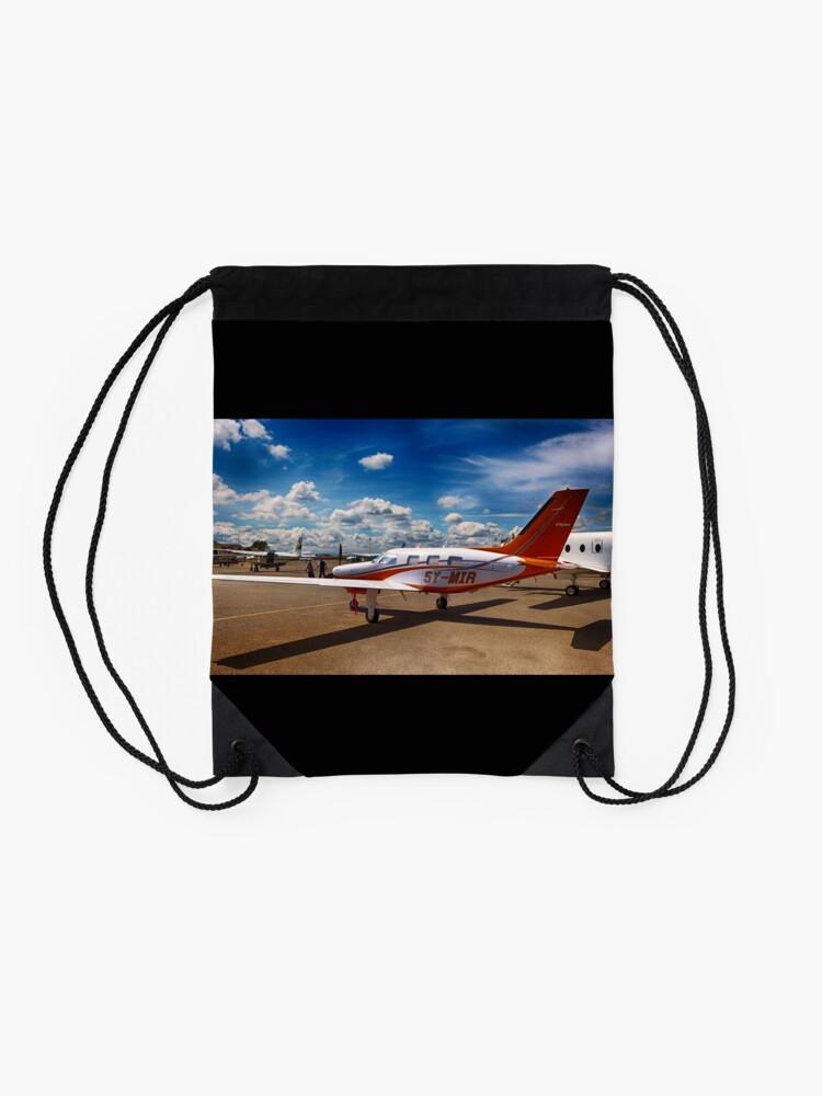 Alternative Ansicht von Flugzeug Turnbeutel