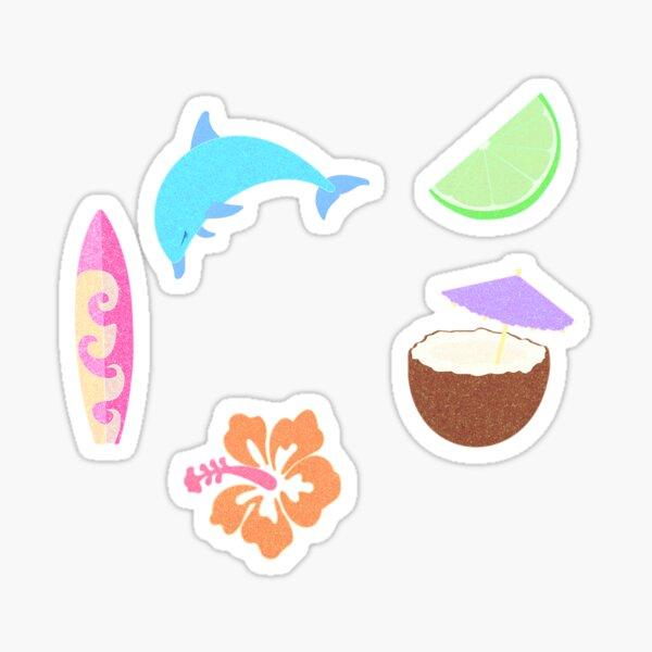 Key West Coconut Girl Vibe Sticker