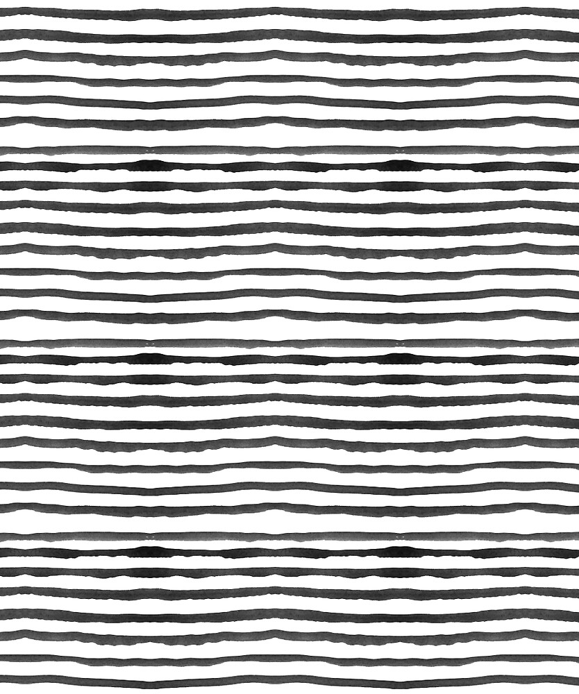Watercolour Stripes - White and black by toastedpixels