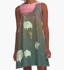 Bison A-Line Dress