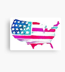 Watercolor United States of America Canvas Print