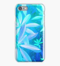 Tropical neon foliage print iPhone Case/Skin