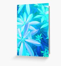 Tropical neon foliage print Greeting Card