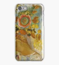 Odilon Redon - Two Young Girls Among Flowers 1912. Garden landscape: garden view, trees and flowers, blossom, Girls,  Young,  Among Flowers, wonderful flowers, dream, think, garden, flower iPhone Case/Skin