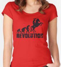 Caesars Revolution Tailliertes Rundhals-Shirt