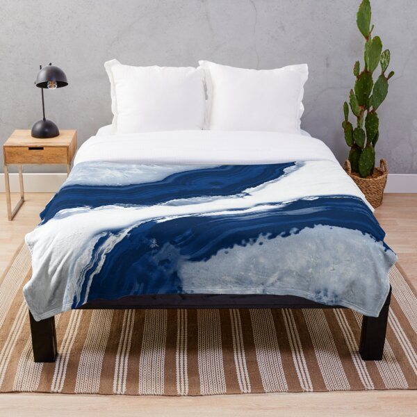 Blue Agate #4 #gem #decor #art  Throw Blanket