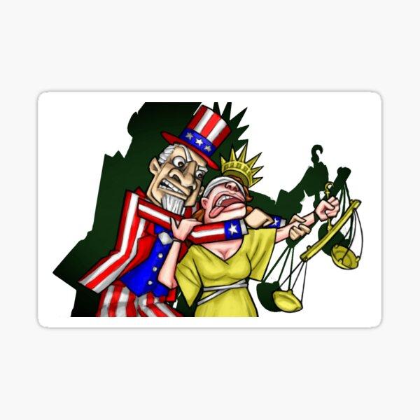 Uncle Sam vs. Lady Liberty Sticker