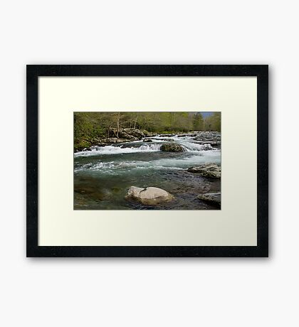 Middle Prong Little Pigeon River Framed Print