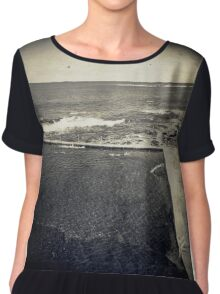 the seaside ~ a nostalgic study II Women's Chiffon Top