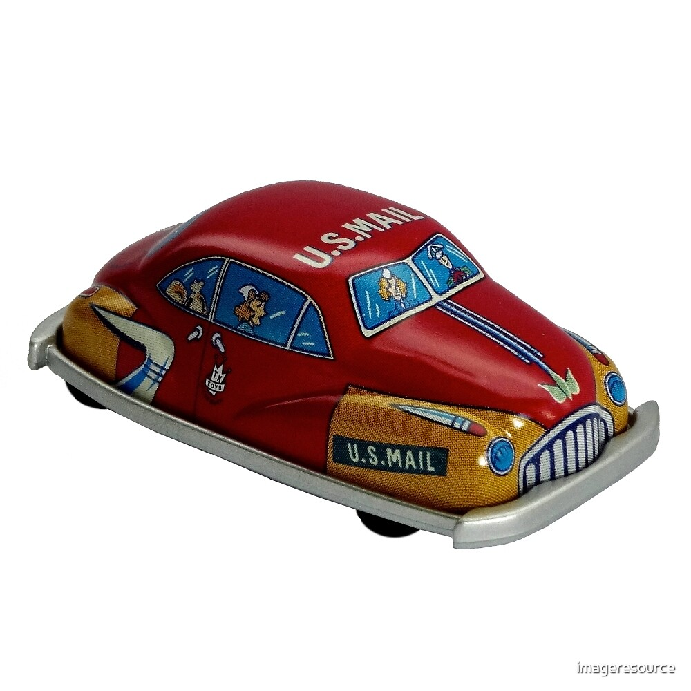 Tin Toy - US Mail Car by imageresource