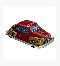 Tin Toy - US Mail Car Photographic Print