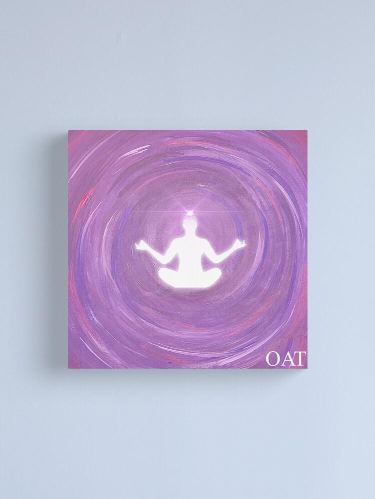 Alternate view of Crown Chakra Meditation Canvas Print