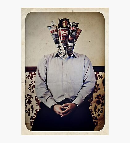 Still Life with The Faceless Man Photographic Print