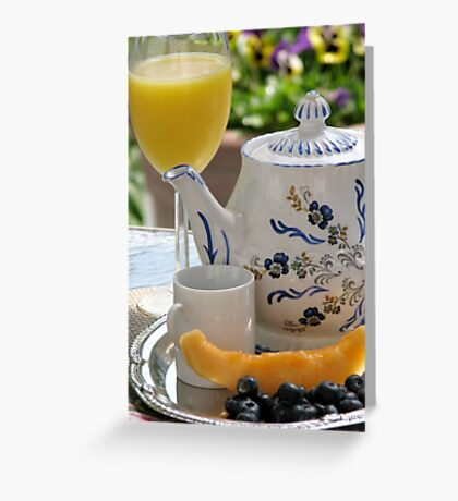 Breakfast On The Balcony Greeting Card